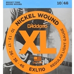 D'Addario EXL110 10-46, Nickel Wound Electric Guitar Strings, Regular Light