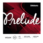 D'Addario J81044M Prelude Violin String Set, 4/4 Scale, Medium Tension