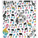AIM Gifts AIM29518 Stickers-Music Notes-Staff
