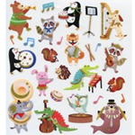 AIM Gifts 29593 Musical Animals Stickers